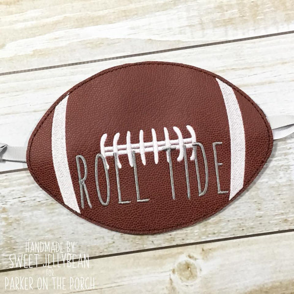 Digital Download- Football Banner - in the hoop machine embroidery