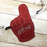 Digital Download- Foam Finger Banner - in the hoop machine embroidery ITH pattern