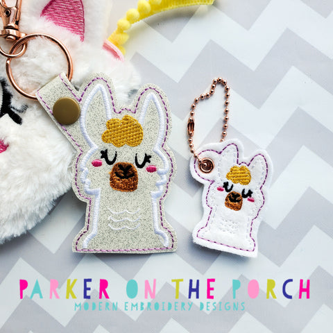 Digital Download- Llama Love - Snaptab & Charm Set
