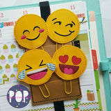 Digital Download- Emojii Planner Clips Set Of 4 - Parker on the Porch