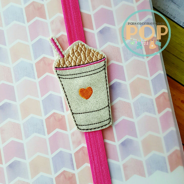 Digital Download - Planner Band Cold Coffee - in the hoop machine embroidery