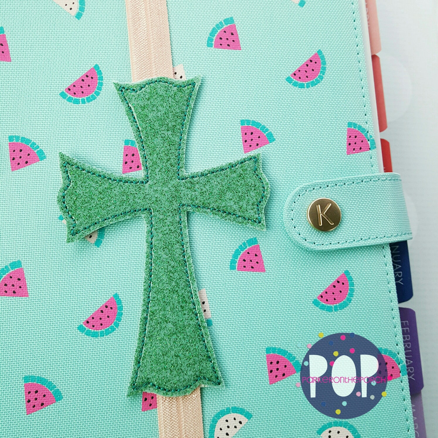 Digital Download - Cross Planner/ Bible Band - in the hoop machine embroidery