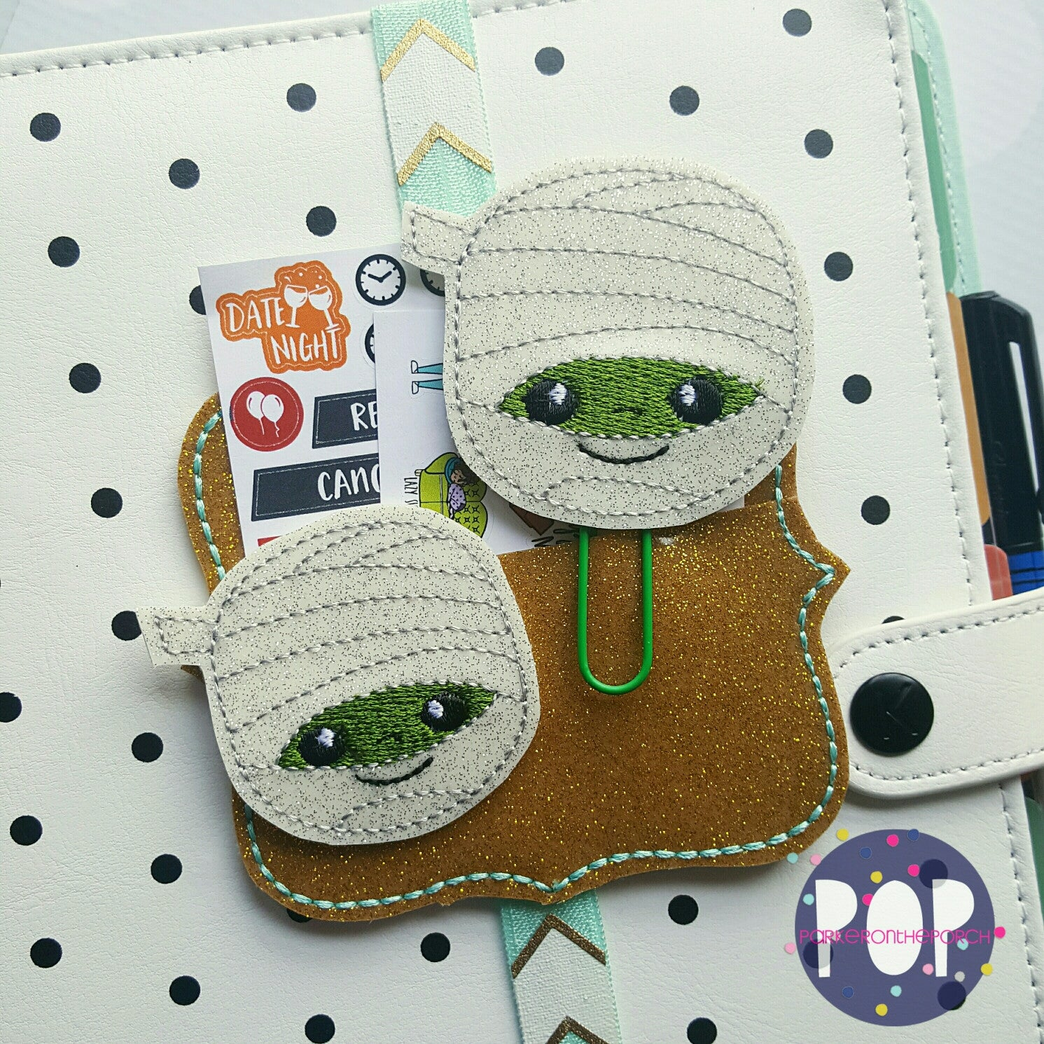Digital Download- Mummy Planner Clip & Feltie Set - Parker on the Porch