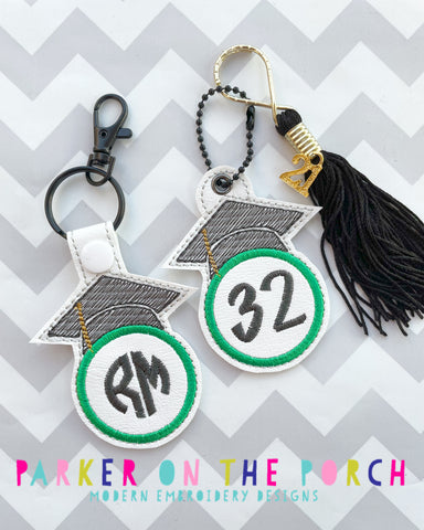 Digital Download- Monogram Snaptab & Charm Set- Grad