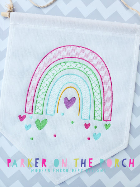 Digital Download- Rainbow Heart - Embroidery Fill