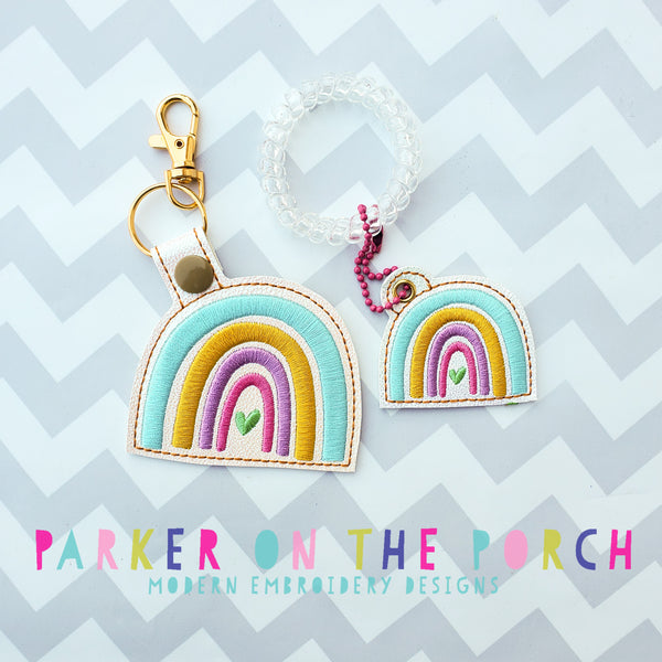 Digital Download- Rainbow Heart- Snaptab & Charm Set