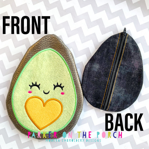 Digital Download - Avocado Zipper Bag - Back Zip