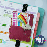 Digital Download - Scroll Frame Clip Keeper- Planner Band - in the hoop machine embroidery