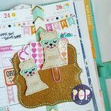 Digital Download- Llama 2.0 Planner Clip & Feltie Set - Parker on the Porch