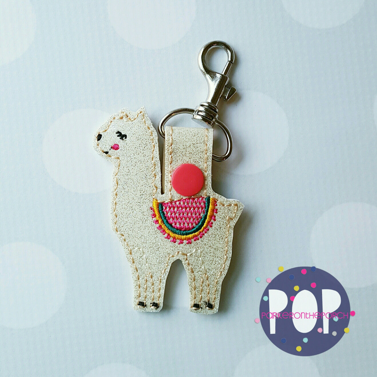 Digital Download- Snaptab- Llama - in the hoop machine embroidery ITH pattern