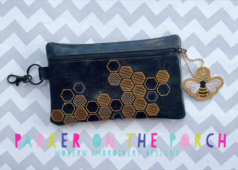 Digital Download- Size 3- Honeycomb 2.0 Zipper Bag