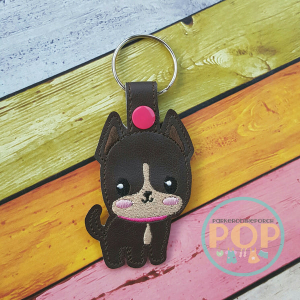 Digital Download - Frenchie Snaptab Design - Parker on the Porch
