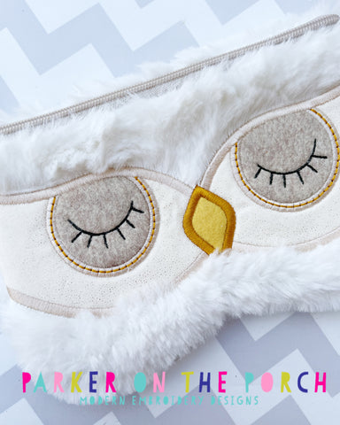 Retailer Digital Download- Owl Sunglass Top Zip Zipper Bag