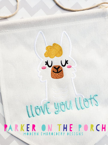 Digital Download- Llove you Llots - Embroidery Fill