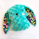 Digital Download - Bunny Stuffie - in the hoop machine embroidery ITH pattern