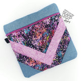 Digital Download - Herringbone Zipper Bag - in the hoop machine embroidery ITH pattern