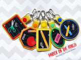 Digital Download - Basic Shapes Applique Snaptabs Bundle - in the hoop machine embroidery ITH pattern