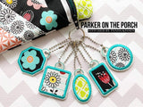 Digital Download - Basic Shapes Charms - Set 1 Applique - in the hoop machine embroidery ITH pattern