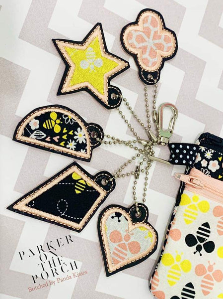 Digital Download- Basic Shapes Charm - Set 2 - in the hoop machine embroidery