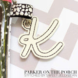 Digital Download - Mini Script Alpha Monogram Charm set - in the hoop machine embroidery ITH pattern