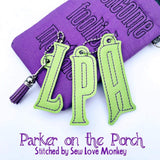 Digital Download - Magical Mortals Monogram Charms - in the hoop machine embroidery ITH pattern
