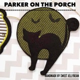 Digital Download- Midnight Cat Banner - in the hoop machine embroidery ITH pattern