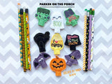 Digital Download- 2019 Halloween Pencil Topper Bundle - in the hoop machine embroidery ITH pattern