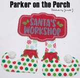 Digital Download- Santa's Workshop Banner BUNDLE - in the hoop machine embroidery ITH pattern