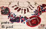 Digital Download- Football Fan Banner BUNDLE - in the hoop machine embroidery ITH pattern