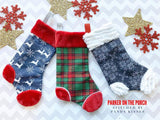 Digital Download- Basic Fur Christmas Stocking - in the hoop machine embroidery ITH pattern