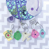 Digital Download- Tropical Travel Charms - in the hoop machine embroidery ITH pattern