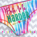Digital Download- Bite Me Harder - Mature Embroidery Fill