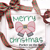 Digital Download- Santa Bow Sketch Embroidery Fill - in the hoop machine embroidery ITH pattern