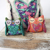 Digital Download- Hootie Owl Stuffie - in the hoop machine embroidery ITH pattern