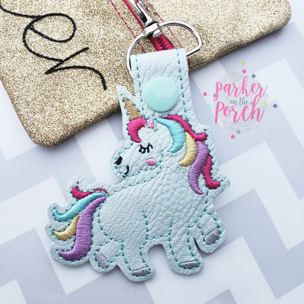 Digital Download- -Unicorn 2.0 Snaptab - in the hoop machine embroidery