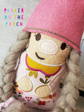 Digital Download - Girl Gnome Stuffie - in the hoop machine embroidery ITH pattern
