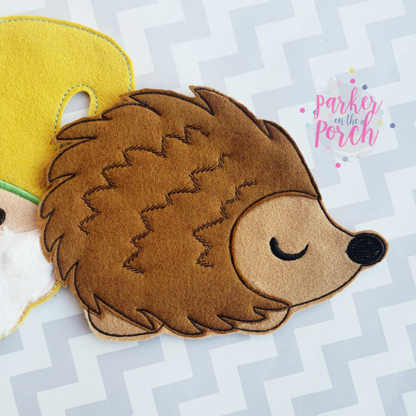 Digital Download- Hedgehog Banner - in the hoop machine embroidery