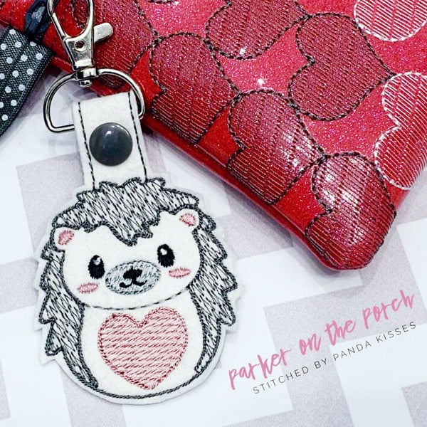 Digital Download- Hedgehog Snaptab - in the hoop machine embroidery