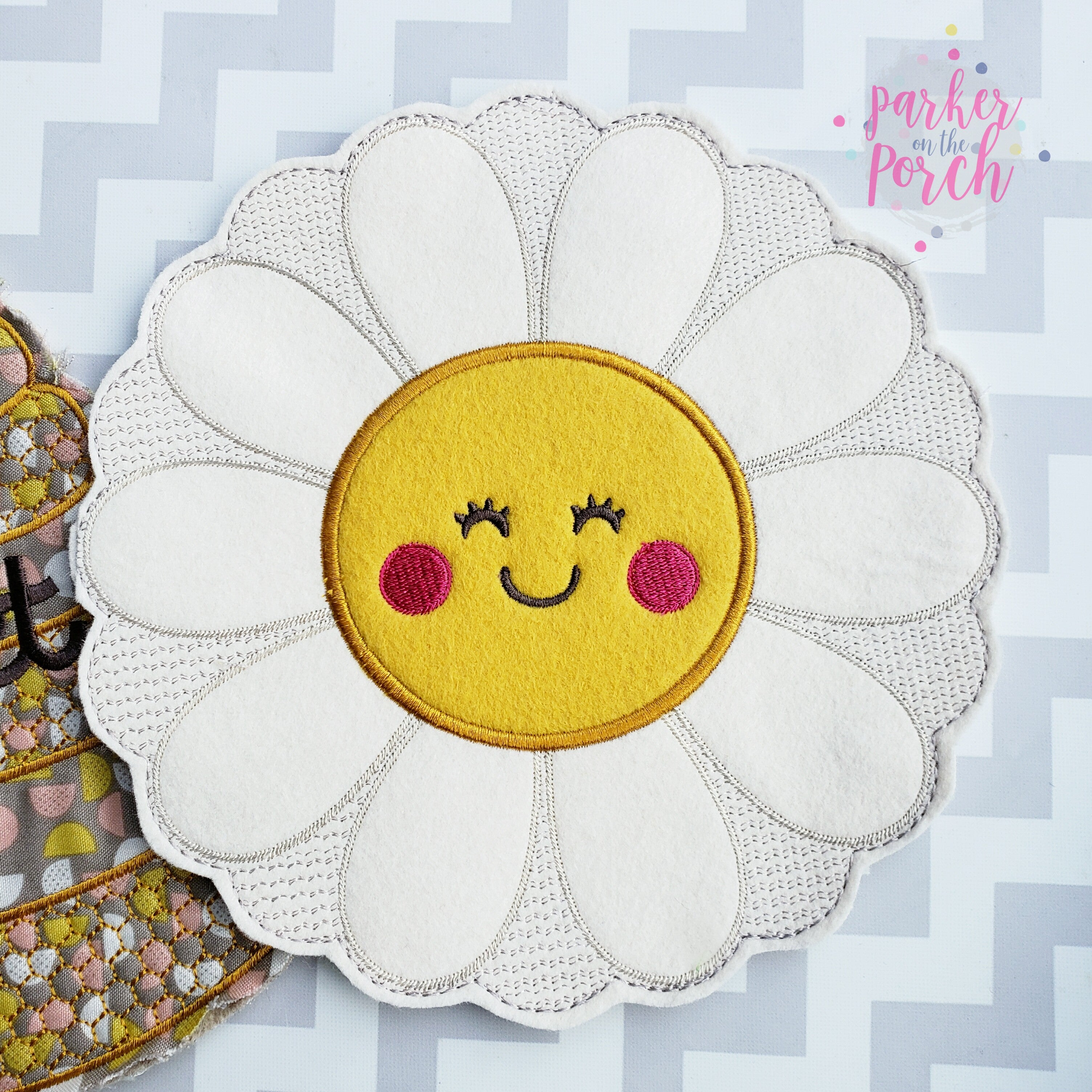 Digital Download- Happy Daisy Banner - in the hoop machine embroidery ITH pattern