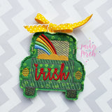 Digital Download- St Paddys Truck Ornament - in the hoop machine embroidery ITH pattern