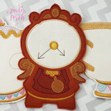 Digital Download- Magical Clock Banner - in the hoop machine embroidery ITH pattern