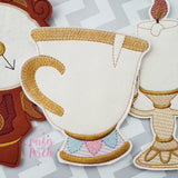 Digital Download- Magical Teacup Banner - in the hoop machine embroidery ITH pattern