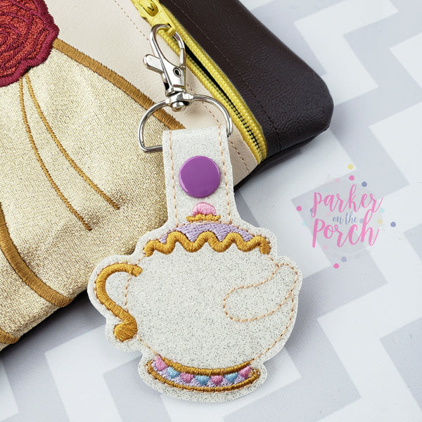 Digital Download- Magical Teapot Snaptab - in the hoop machine embroidery