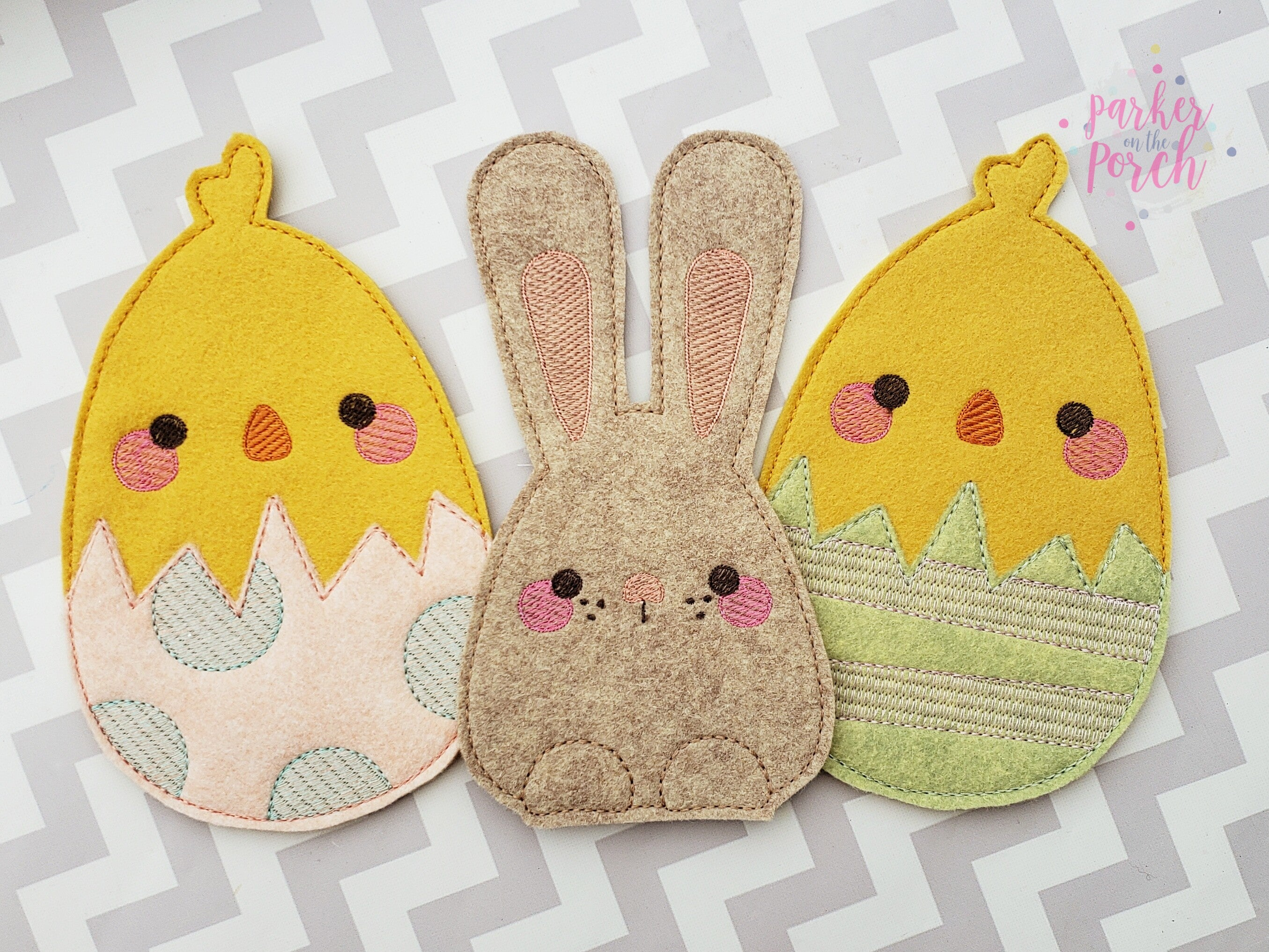 Digital Download- Easter Eggs Banner - in the hoop machine embroidery ITH pattern