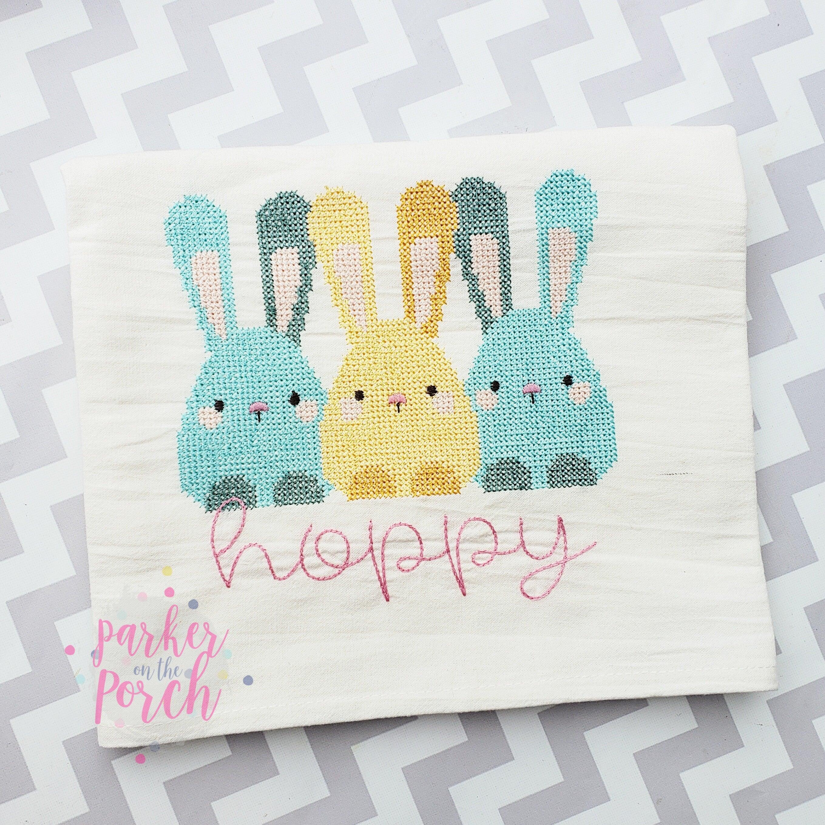 Digital Download- Bunny Sketch and Cross Stitch Trio Fill - in the hoop machine embroidery