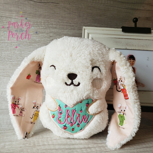Digital Download- Bunny Stuffie - in the hoop machine embroidery