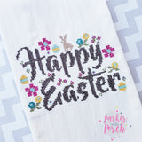 Digital Download- Happy Easter Cross Stitch Fill - in the hoop machine embroidery ITH pattern