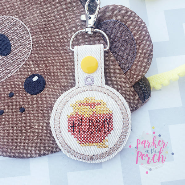 Digital Download- Hunny Cross Stitch Snaptab - in the hoop machine embroidery