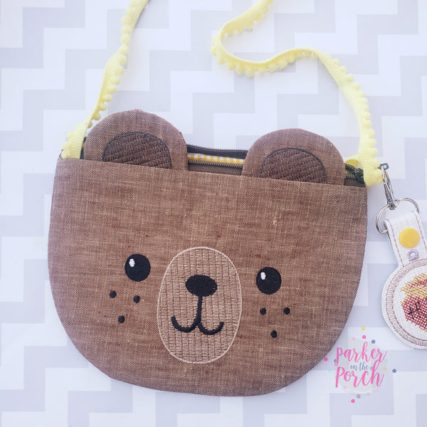 Digital Download- Top Zip Teddy Bear Bag
