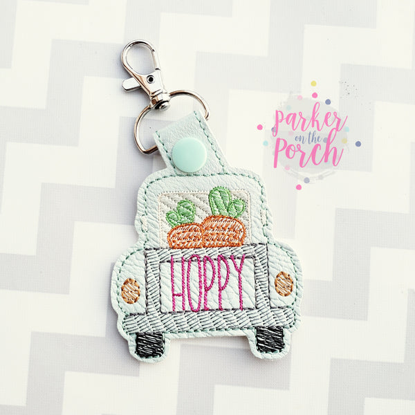 Digital Download- Carrot Truck Snaptab - in the hoop machine embroidery